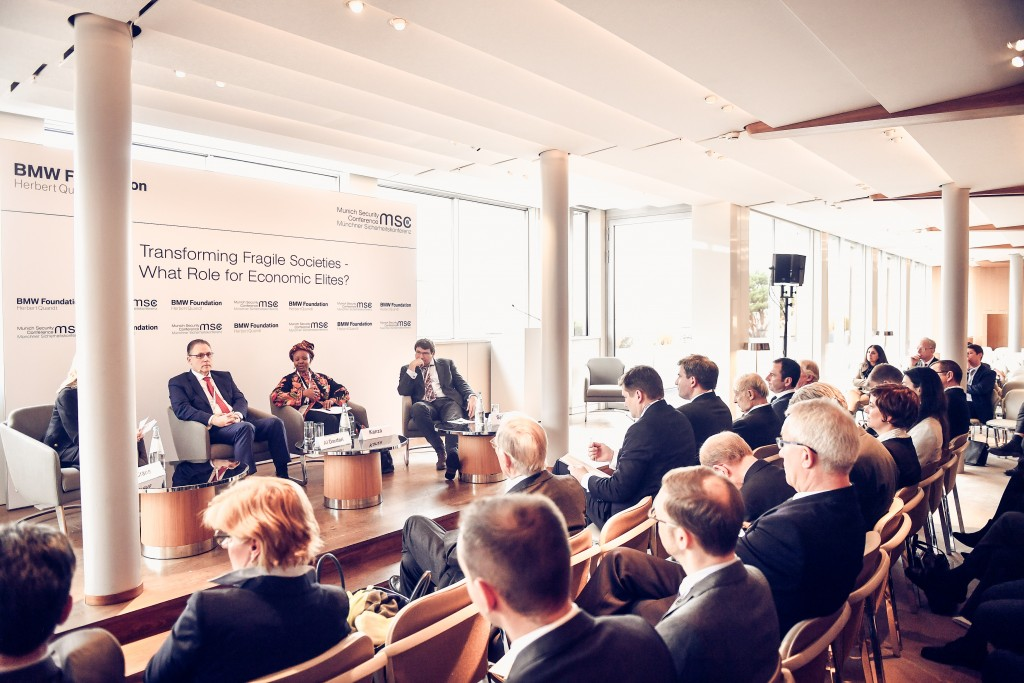20180216 - Atmosphere at BMW Foundation event, Bayerischer Hof, Munich Security Conference 2018, Munich, Germany.
